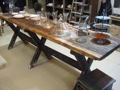 1000 images about meubles bois et acier on pinterest. Black Bedroom Furniture Sets. Home Design Ideas