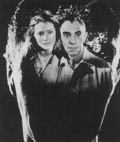 Tilda Swinton and Derek Jarman by Angus McBean, 1987
