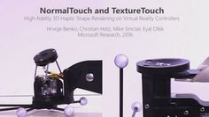 Microsoft Researchは、VR空間で物体の形状や固さなどを指先に伝えるハンドヘルド型のコントローラの試作機を開発した。