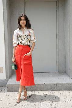 #LeandraMedine #ManRepeller #streetstyle #fashion #style #inspiration #chic #lookbook #outfits #celebstyle #blogger Five Summer Outfit Ideas