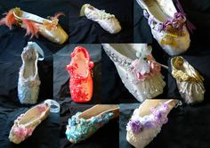 Customise your own deorated pointe shoe by ClassicTutuDesigns Pointe Shoes, Ballet Shoes, Dance Shoes, Ballet Decor, Shoe Crafts, Ballerinas, Slippers, Craft Ideas, Future
