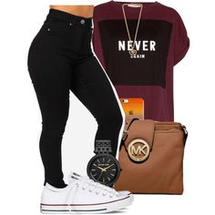 A fashion look from February 2015 featuring purple shirt, high-waisted jeans and converse shoes. Browse and shop related looks.