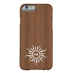 Woody white tribal tattoo initials iPhone 6 case Barely There