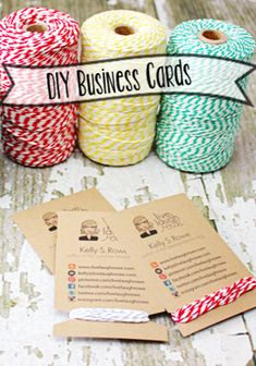 Make your business cards stand out with this DIY project.