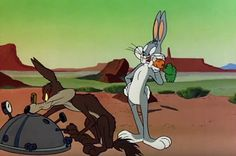 Bugs Bunny and Wile E Coyote