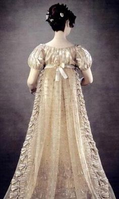 "Princess Charlotte's  Court Dress, the ""Bellflower Dress"", 1814-1816."