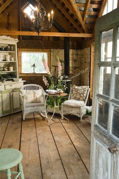 sheds turned into cottages | Inside the garden shed on the property behind ... | The Garden & Outd ...