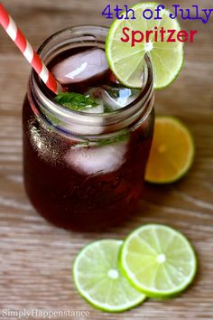 4th of July Spritzer - Can be made with or without alcohol;)
