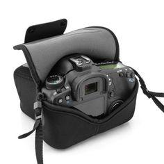 Amazon.com: USA Gear DuraNeoprene dSLR FlexArmor Sleeve Case for Nikon , Canon EOS Rebel , and Sony Alpha Digital SLR Cameras: Camera & Photo