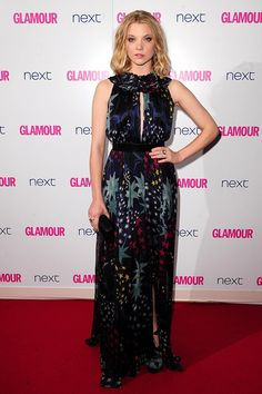 Her edgy undercut may be long gone, but Game of Thrones star Natalie Dormer still managed to grab plenty of attention working a covetable, 70s-style halterneck Matthew Williamson dress with a fabulous floral print.