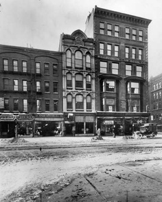 The State Street  site of the first Eastman Kodak factory. Photo taken around 1920.
