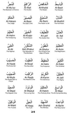 The 99 names of Allah generally all contain a Either or vavs (w), which is a Hebrew Quran Quotes Love, Islamic Love Quotes, Islamic Inspirational Quotes, Religious Quotes, Religious Art, Arabic Quotes, Islam Religion, Islam Muslim, Islam Quran
