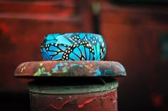 PAGANE uniques resin jewelry. Butterfly on a Tractor ;)