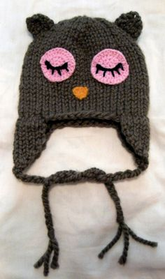 SLeepy Owl hat for bye bye with baby http://byebyewithbaby.com/
