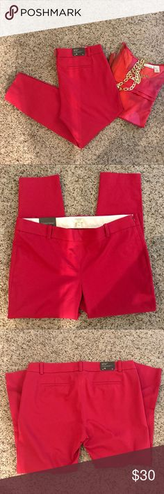 J. Crew Winnie pants Deep raspberry pink pants by J. Crew in the Winnie style. Stretch for comfort fit. Sleek flat front style with side zip. Size 14. Blouse and necklace also in my closet. Bundle and save! Smoke free pet free home. J. Crew Pants Skinny