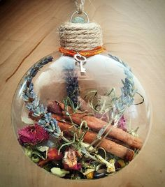 New Home Blessing Ornament - Witch Ball - Herbal Blessing - Yule Decor - House Protection Spell - Tree Ornament - Wiccan - Pagan(Diy Art For Bedroom) Holiday Crafts, Christmas Crafts, Christmas Ornaments, Pagan Christmas Tree, Diy Ornaments, Christmas Balls, Yule Decorations, Christmas Decorations, Wiccan Crafts