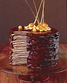 Definitely happening. Possibly this weekend. Martha Stewart, Darkest Chocolate Crepe Cake (recipe).