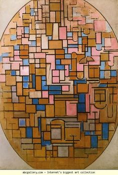 Piet Mondrian. Tableau III. Oil on canvas. 140 x 101 cm. Stedelijk Museum, Amsterdam, Netherlands
