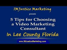 Getting exposure to your online videos is just as important as  creating them. With millions of videos being uploaded daily,  you'll need an effective way to stand out from the crowd when you market your business in Lee County Florida and elsewhere...