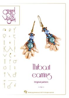 Beading tutorial / pattern Thibaut earring. Beading instruction in PDF – for personal use only by beadsbyvezsuzsi on Etsy