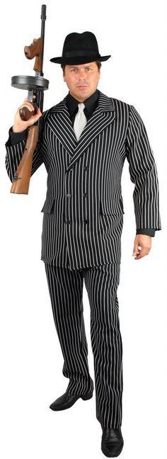 Adult Men/'s Pink Gangster Suit Costume
