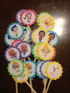 Bubble Guppies Cupcake Toppers – My WordPress Website Third Birthday, 2nd Birthday Parties, Birthday Fun, Birthday Ideas, Bubble Guppies Cupcakes, Bubble Guppies Birthday, Guppy, Get The Party Started, Animal Party