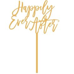 Moon and Lola - Happily Ever After Cake Topper Antique Gold