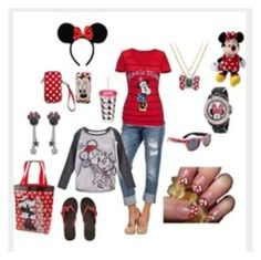 """Minnie Mouse ❤️❤️"" by fashionforyou12 ❤ liked on Polyvore featuring beauty"