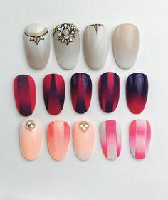 Mani Pedi, Nail Manicure, Nail Polish, Faded Nails, Gradient Nails, Hair And Nails, My Nails, Airbrush Nail Art, Nailart