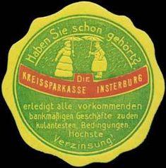 Kreissparkasse Insterburg. Reklame- oder auch Ereignismarke welche seinerzeit für die Werbung benutzt wurde. Die meisten dieser Marken sind von 1900 bis 1918