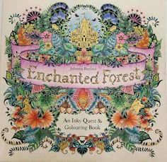 Johanna Basfords Enchanted Forest Coloring Book Map Colored By