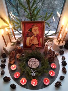 Winter Solstice 2019, Solstice And Equinox, Yule, Altar Design, Moon Time, Wiccan Altar, Sabbats, Winter Holidays, Hearth