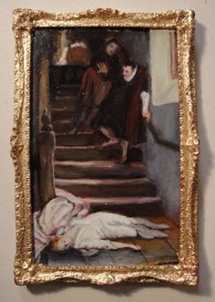 """Barbara Wilson, IGMA Artisan - Oil Painting, """"The Death of Amy Robsart"""" after William Frederick Yeames 1560"""