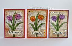 Bettys-creations: ATC's mit Tulpen