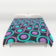 Rings and Discs Duvet Cover by Lyle Hatch - $99.00