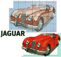 Cross Stitch Card Shop/Tea adds..A Jag! They are not apparently well made for the money, but boy what a beauty.I don't even know one car from another yet I always spot a Jag. No matter its year.:)