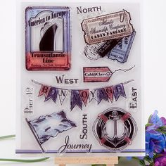 scrapbook travel design clear stamp 14CM*18CM 12pcs/set ACRYLIC clear STAMPS carimbos timbri SCRAPBOOKING stamp free shipping