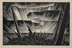 "Lynd Ward - Wood Engraving for Alec Waugh's ""Hot Countries"" - 1930 Science Fiction Art, Art Prints, Art Photography, Linocut, Black White Art, Abstract Artwork, Art, Woodcut, German Art"