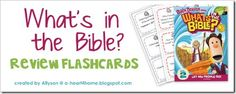 What's in the Bible? Review Flashcards FREE download #whatsinthebible