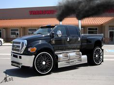 18 Photos of Ford Dunkel Luxury Hauler Dually Trucks, Ford Pickup Trucks, Big Rig Trucks, Car Ford, Cool Trucks, Semi Trucks, Ford Diesel, Diesel Trucks, Ford F650