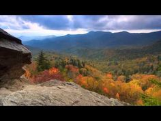 "Enjoy a view of our Autumn . Scenic Time Lapse of Fall Foliage & Incredible Mountain Views in Asheville, the Blue Ridge Parkway and the surrounding region of North Carolina. Video from Explore Asheville/Music - ""Miles of Skyline"" by Uncle Mountain. Western North Carolina, North Carolina Homes, Blue Ridge Parkway, Blue Ridge Mountains, Asheville Nc Real Estate, Mountain City, Beautiful Places, Scenery, Places To Visit"