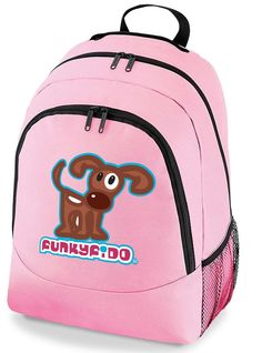 Funky Fido Girls or Boys Brown and White Staffie Dog A4 School Backpack  Rucksack Backpack 0127a1a635a59