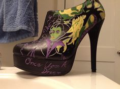 Hand painted heals, so excited for the Malificent movie coming out this year