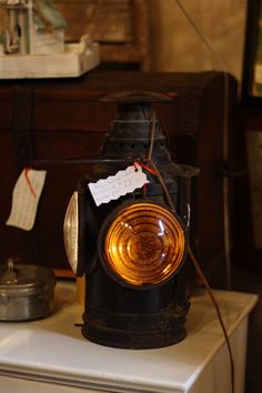 antique railroad lantern @capemayWEG