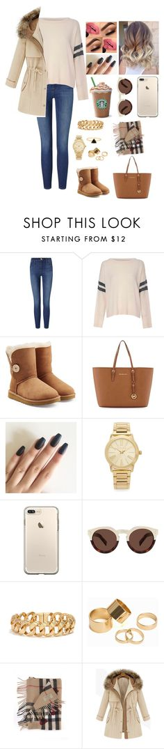 """""""Untitled #670"""" by myriam-sanchez ❤ liked on Polyvore featuring Frame, Glamorous, UGG, MICHAEL Michael Kors, Michael Kors, Illesteva, Pieces and Burberry"""