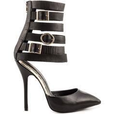 dcddbacdfa1b6 Keyshia Cole by Steve Madden Women s Damas - Black Leather (130 CAD) ❤ liked