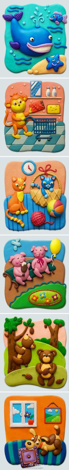 Cartoon clay modeling  http://revision.ru/a/bingo/