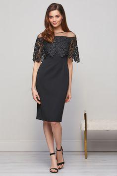 Manuela Embroidered Bodice Black Sheer Dress Dressy Dresses, Sheer Dress, Types Of Sleeves, Bodice, Cold Shoulder Dress, Weddings, Wedding Dresses, Lace, Fabric
