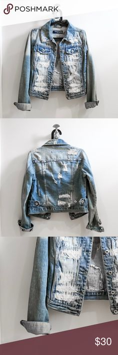 Distressed Denim Jacket Distressed denim jacket. Medium wash. Jackets & Coats Jean Jackets