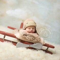 Wooden plane, Photography Prop, Photography Prop  Airplane,Newborn Prop, Plane, Prop, Aviator, Aviator Prop If I found this when my boys were this little  awwwwwwwww